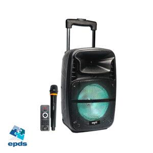 Parlante portatil tipo carrito con BT, FM y MP3 con luces (NSPA8B)